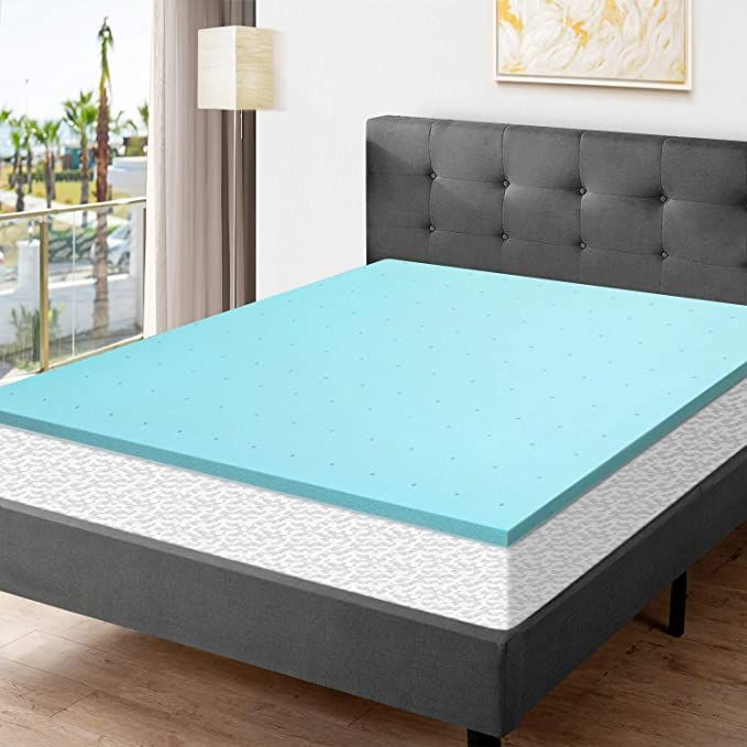 Momend 2inch Memory Foam Mattress Pad Twin Xl Cooling Gel Infused