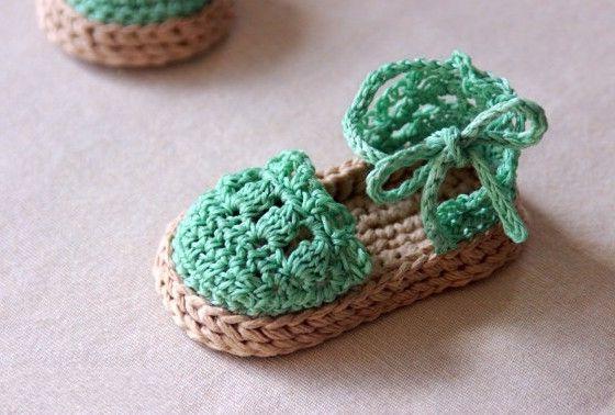 Free Crochet Patterns Baby Sandals - Crochet : Knitting Design Ideas #