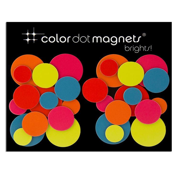 ThreeByThree Seattle ThreeByThree - Color Dot Magnete, 30 Stück Verschiedene Farben