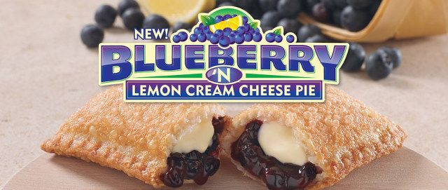 Popeyes Blueberry 'n Lemon Cream Cheese Pie | a deep-fried, turnover-style p…
