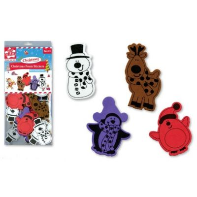 Cute Christmas foam shape sticker. Great for scrapbooking, crafts, Christmas decorations or school. Reindeer, snowman, pengiuns. http://www.stickaround.com.au/childrens-gifts-ideas/stickers/christmas-foam-stickers.html