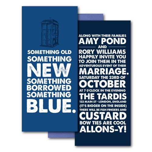 Steff Loves: Dr. Who Wedding Invitations from Sweetheart Shout Out | Gothic Wedding PlannerGothic Wedding Planner