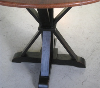 Pedestal Can Be Modified To Fit Any Round Table Size Photo Taken With Round  Pine Table Top U2026