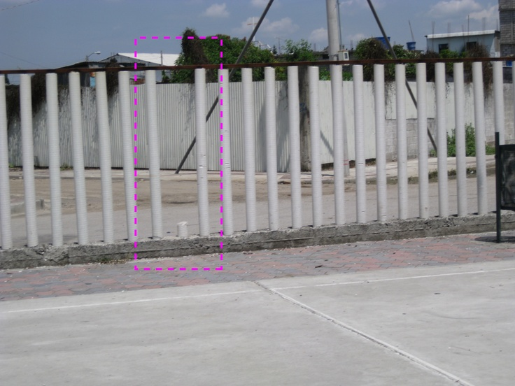 The Fence Is Made Of Pvc Pipes That Are Filled With