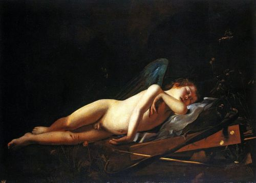 Giovanni Battista Caracciolo, il Battistello (1578 - 1635) - Sleeping Cupid, 1618
