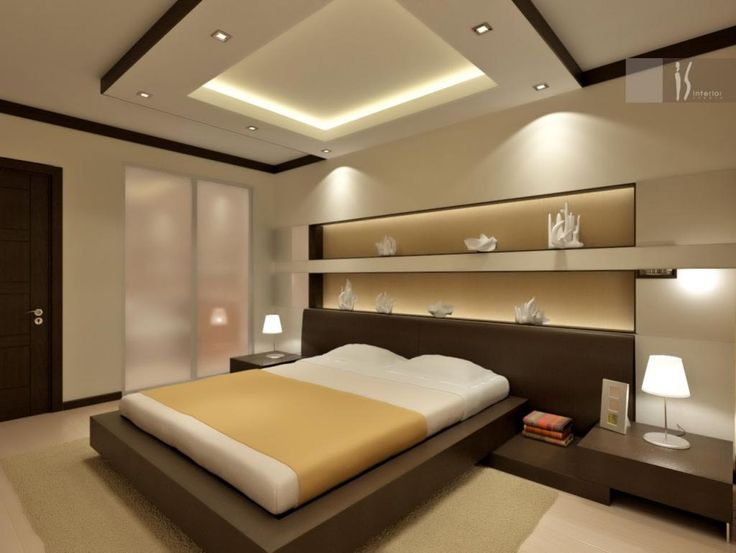 awesome Bedrooms Inspiration with white ceiling plus lighting ceiling then wooden nigahtatnd beside bed idea