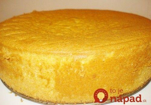 Najjednoduchší vanilkový korpus na torty a zákusky: Bez oddeľovania vajec!