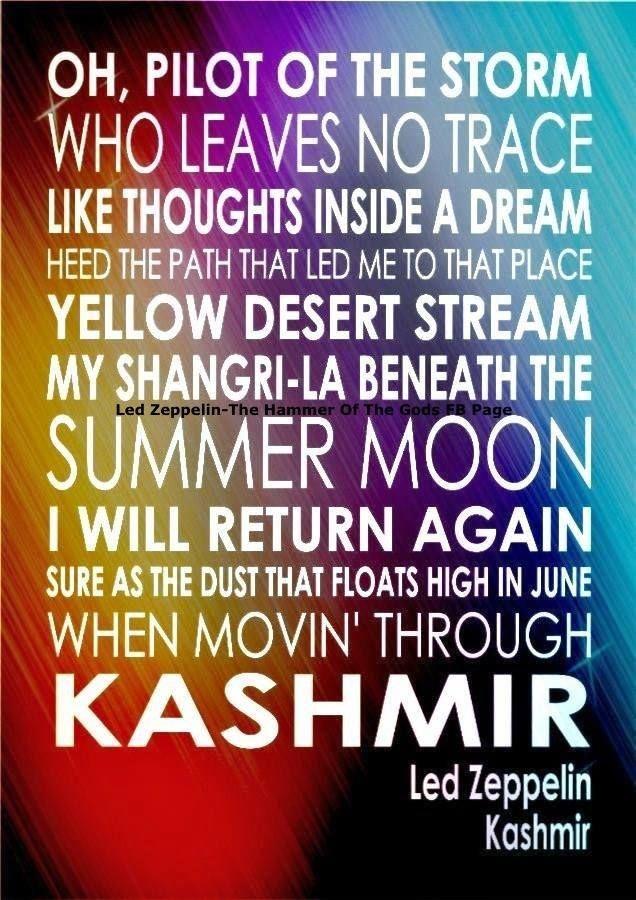 Kashmir lyrics Led Zeppelin https://www.facebook.com/physicalzeppelin/