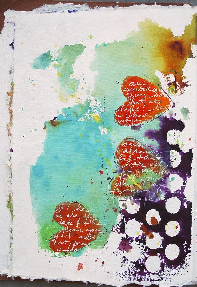 Dina Wakley Art Journal-- LOVE THESE COLORS!!