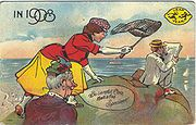 use that net girl!  get your man!  leap year folk traditions from 1908