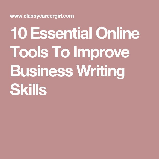 25 Best Ideas About Business Writing Skills On Pinterest
