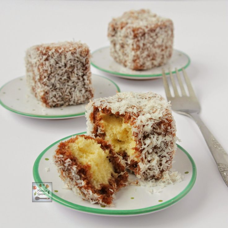 Delicious sponge cake dipped in chocolate sauce and then covered all over with shredded coconut, what's not to love?
