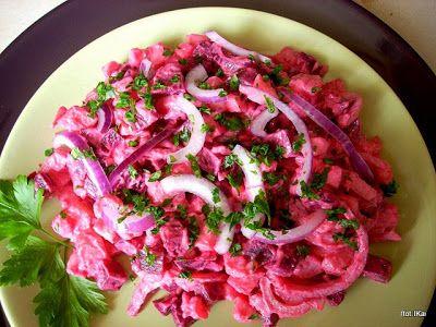 Smaczna Pyza: Buraki i ziemniaki czyli różowa sałatka