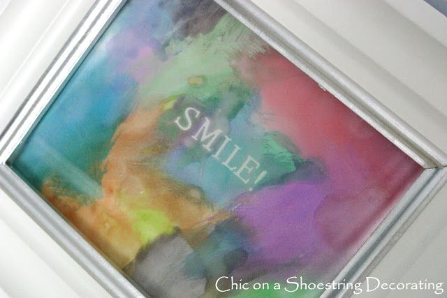 What a fabulous idea to establish house rules! Watercolor Word Art! Kids will love this!