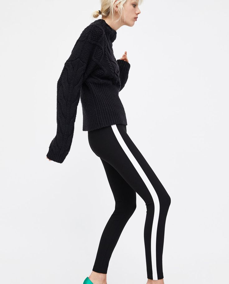 LEGGINGS WITH CONTRASTING SIDE STRIPES-TRENDING NOW-WOMAN | ZARA United Kingdom