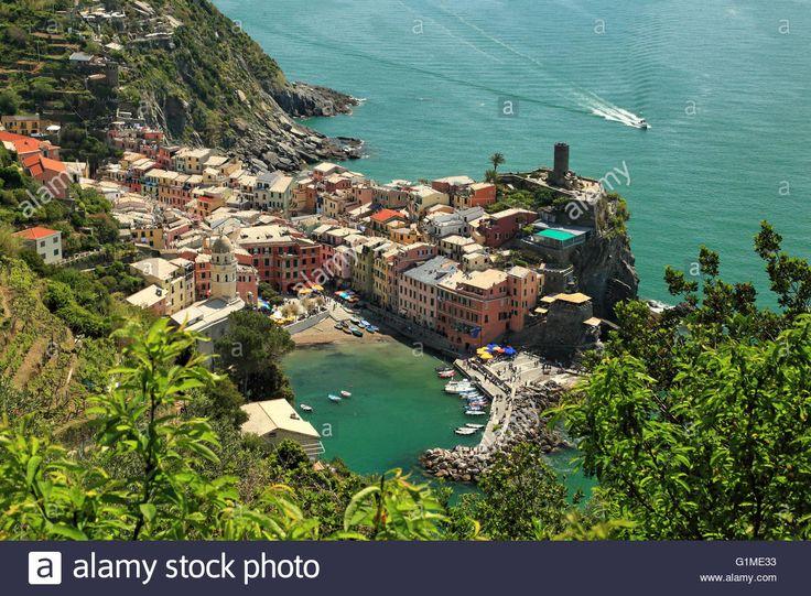 Vernazza, Cinque Terre, Liguria, Italy Stock Photo, Royalty Free Image…