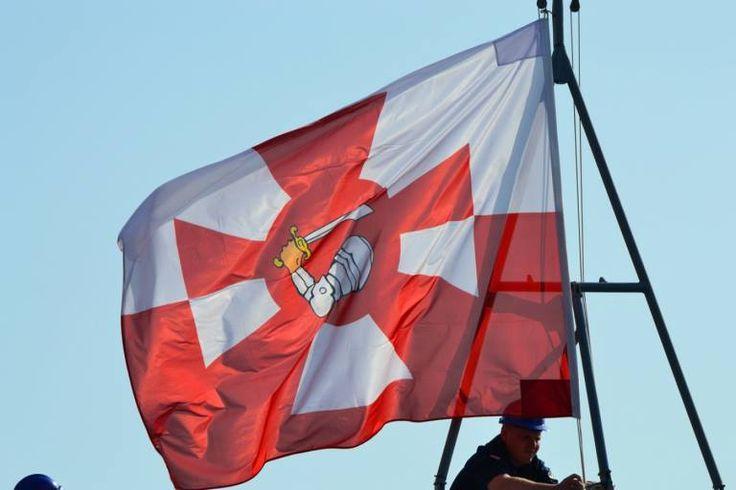 Torrotito o bandera de tajamar de la Marina de Guerra polaca