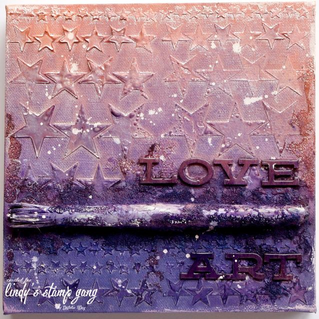 Kid's Mixed Media Class Canvas Tutorial by Natalie May | Lindy's Stamp Gang