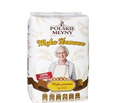 Mąka pszenna domowa typ650. Wyjątkowo tradycyjna receptura mąki pszennej domowej wytwarzanej w szymanowskich młynach, sprawi, że powstałe na jej bazie wypieki będą miały niezwykły smak. Mąka pszenna domowa typ 650 to uniwersalna mąka, która najbardziej sprawdzi się w pieczeniu przepysznych domowych bułeczek, które charakteryzują się wyjątkową chrupkością i puszystością.