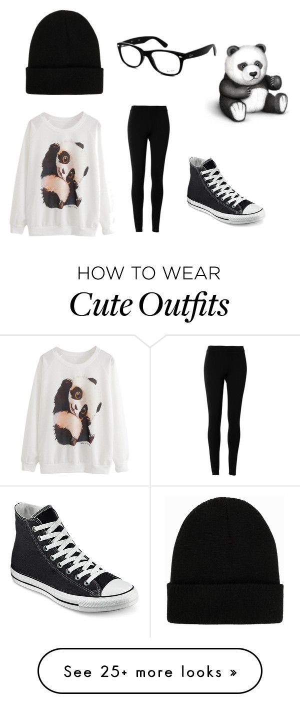 """""""Panda Outfit"""" by im-a-ship-master on Polyvore featuring Ray-Ban, Converse, Max Studio and NLY Accessories"""