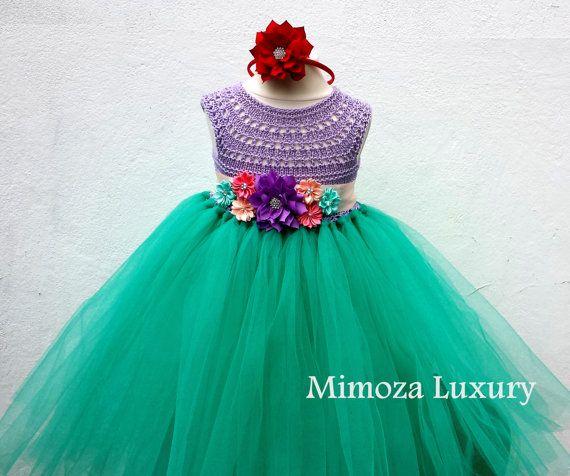 The Little Mermaid tutu dress Ariel princess dress by MimozaLuxury