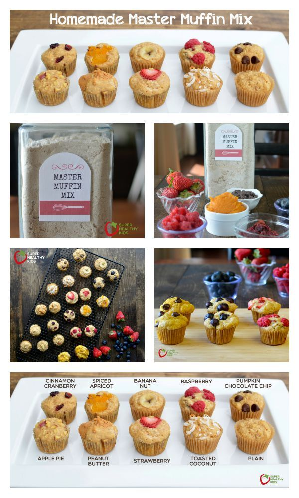 Homemade Master Muffin Mix Recipe - No need to buy pre-made muffin mixes from the store- we've got all you need to make your own mix. http://www.superhealthykids.com/homemade-master-muffin-mix/