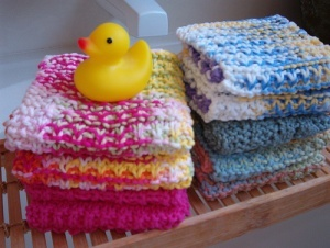 Knitted Acts of Kindness: Junie Moon Shares Her Knitted Washcloth Pattern « Laurel Hill Knitting Needles & Crochet Hooks