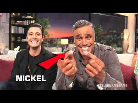Rick Fox is a good sport and let's us tease him about forgetting what a Nickel is... With Gilles Marini and Host Craig Ferguson on Celebrity Name Game !!!