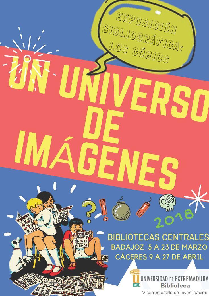 """Exposición bibliográfica """"Un universo de imágenes: los cómics"""" #uexbiblioteca #libros #comic #comicbooks #uex #university"""