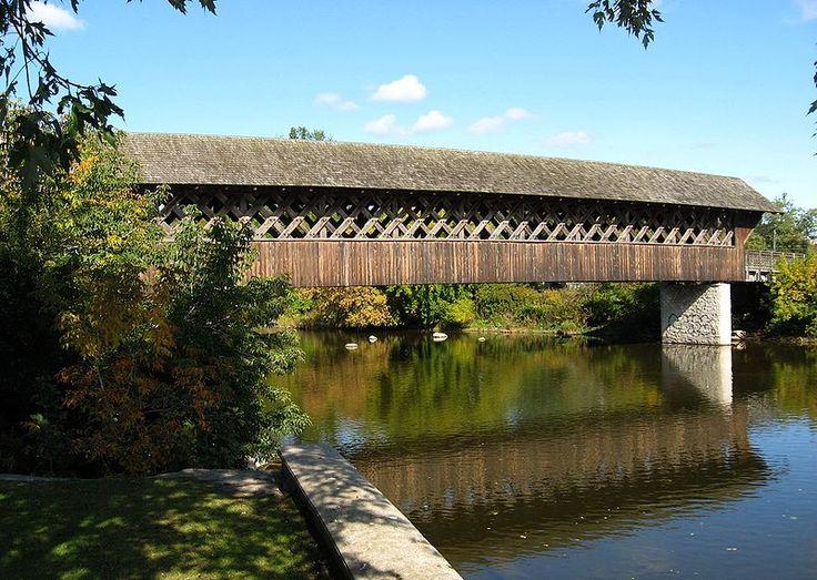 Covered Footbridge,Guelph,Ontario