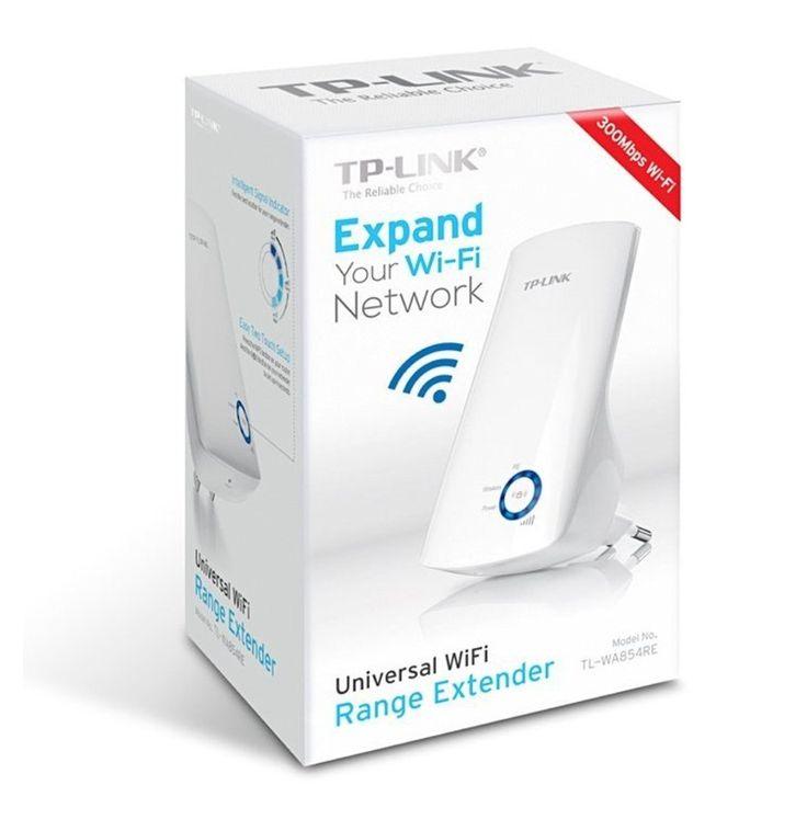 Amplificador WiFi TP-Link TL-WA854RE, 300 Mbps, diseño de pared, color