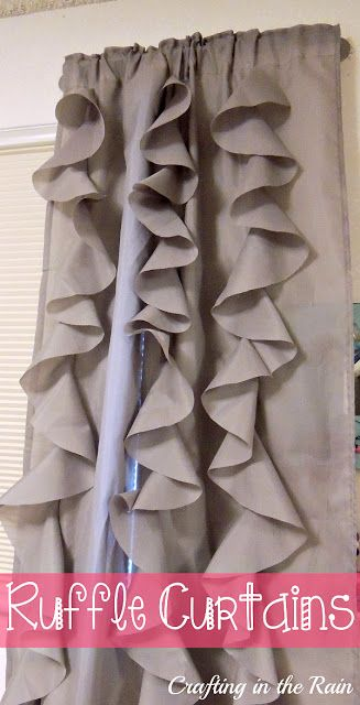 Ruffle Curtains (Circle Ruffles) - craftingintherain.com #DIY #homedecor #sewing