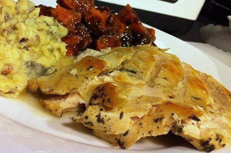 Foto de la receta de filetes de pavo marinados