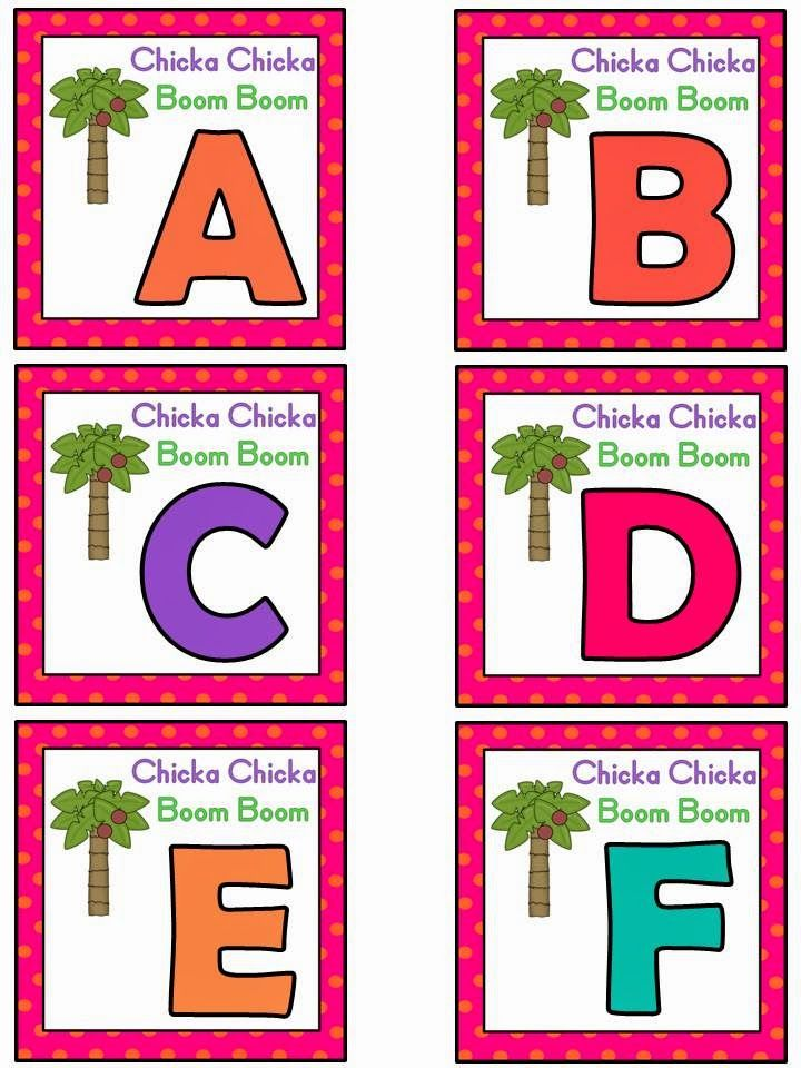 Free: Chicka Chicka Boom Boom alphabet activity based on the book by Bill Martin, Jr. and John Archambault.  For Educational Purposes Only...Not For Profit. Enjoy! Regina Davis aka Queen Chaos at Fairy Tales And Fiction By 2.