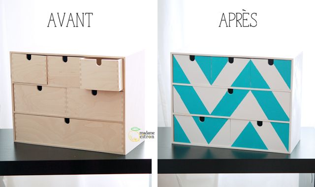Customiser un meuble IKEA : mini-commode Moppe | Madame Citron - Blog de créations et DIY