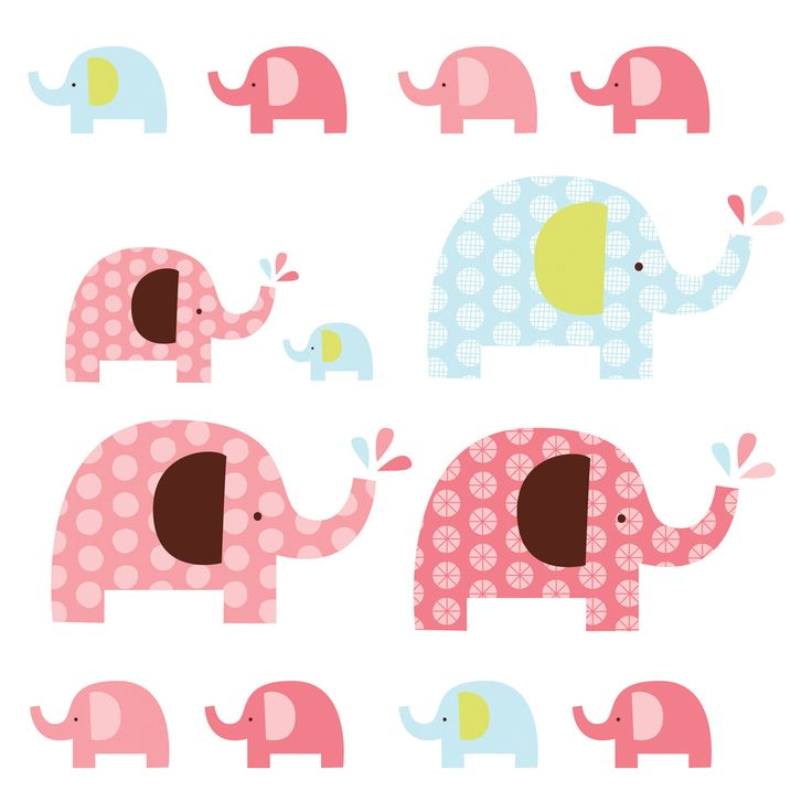 Skip Hop Wall Decals Elephant Pink @Layla Grayce