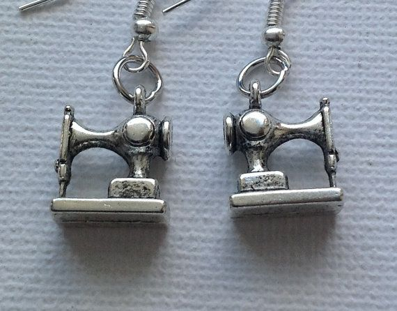 Unusual Sewing Machine Earrings by Mogglepops on Etsy, €4.99