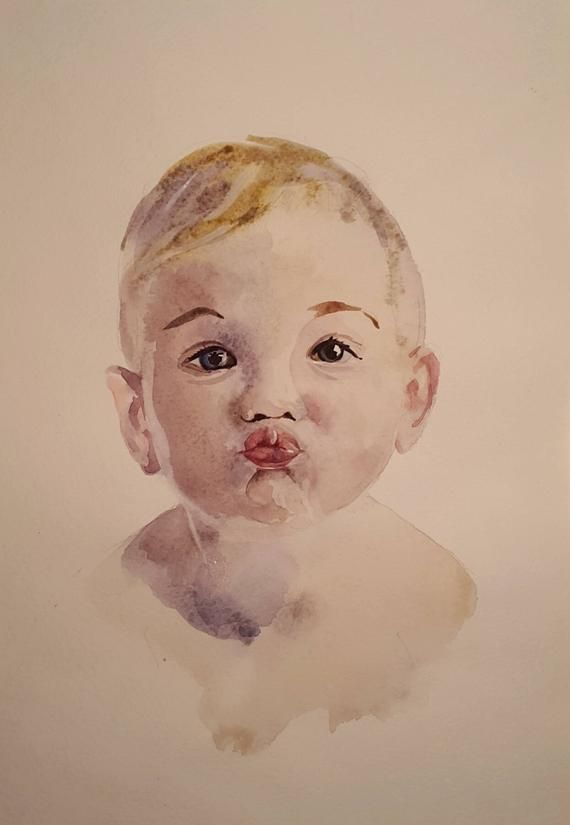 Sustom Portrait Watercolor Family Portrait Painting From Photo