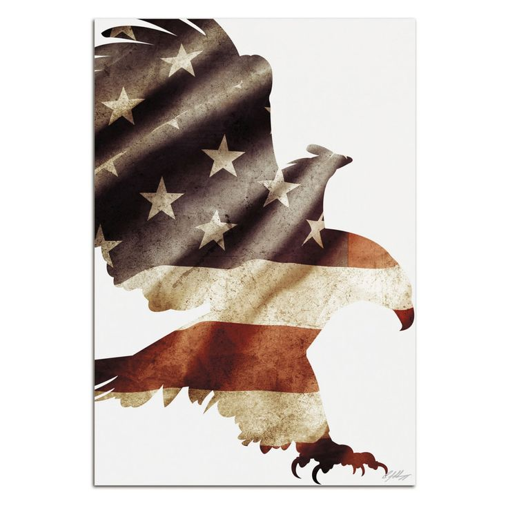Metal Art Studio Patriot Eagle Wall Art - AS0513