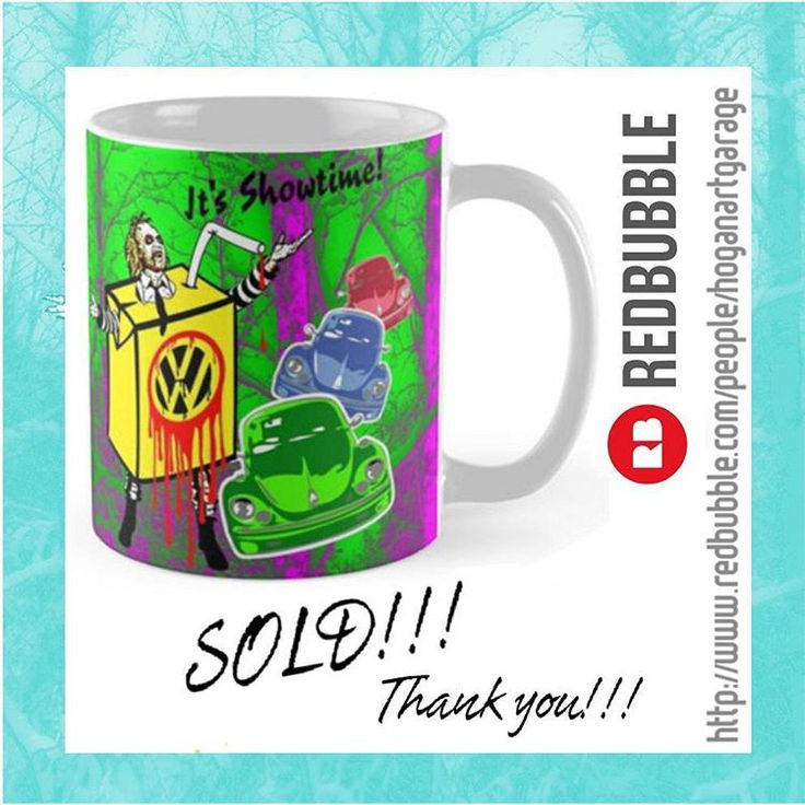 Sold!!!..thanks to Anonymous from Pheonix in the USA who recently bought this 'Beetle Juice' Pop-art mug design from my @redbubble webstore. And thanks for the email you sent me, I really appreciate it! 👍 #sold #popart #redbubble #movies #cups #thankyou #redbubblecreate #redbubblemugs #mugs #itsshowtime #betelguese  #vwfans #beetle #cars #art #design #beetlejuice #coffeetime #moviecharacters #horror #retro #motoroil #coffeemug #instaartist #popculture #vwbeetle