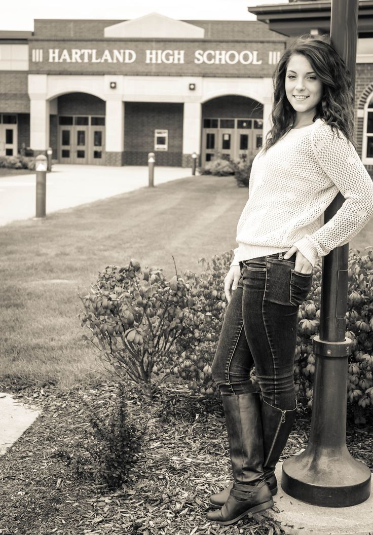 Why not take senior pics at your HS#girl senior picture ideas