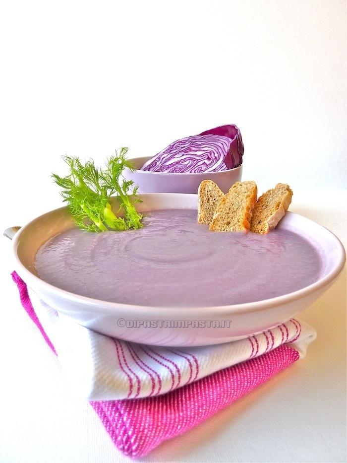 zuppa di cavolo rosso e finocchio