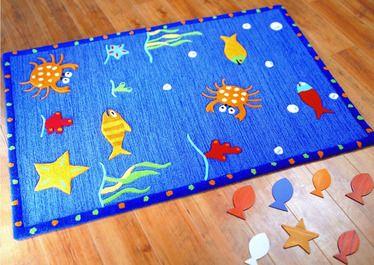 Kids Wool Fish Area Rug | Childrenu0027s Rooms U003e Under The Sea U003e  Undersea Bedroom Rugs