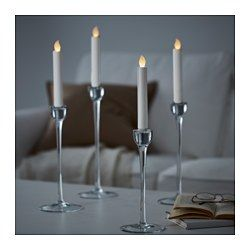 17 best ideas about led candles on pinterest hurricane for Ikea tea light battery