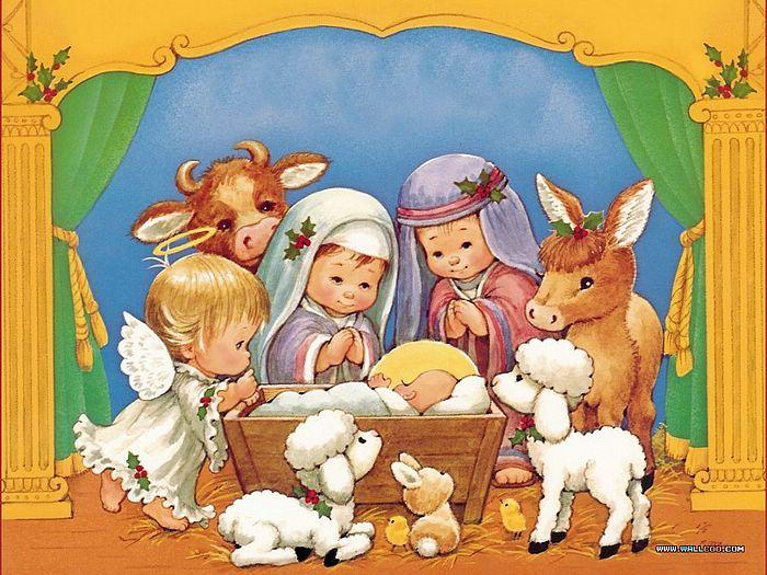 Cute nativity scene: Little Children, Happy Birthday, Bible Stories, Birthday Sweet, Christmas Native, Native Scene, Xmas Cards, Jesus Love, Christmas Gifts Baskets