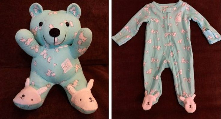 """Artists and crafty moms are turning old baby clothes into keepsake """"memory bears"""" that can be cherished by parents and kids for years to come."""