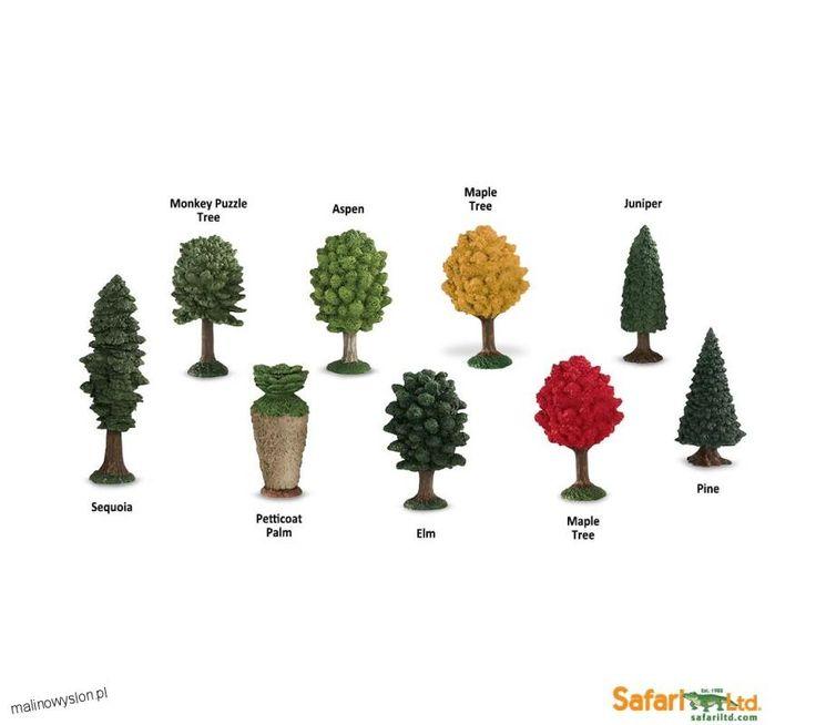 12 Gatunków Drzew - Figurki w Tubie