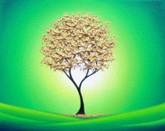 Impresión impresión del arte del árbol frondoso árbol árbol