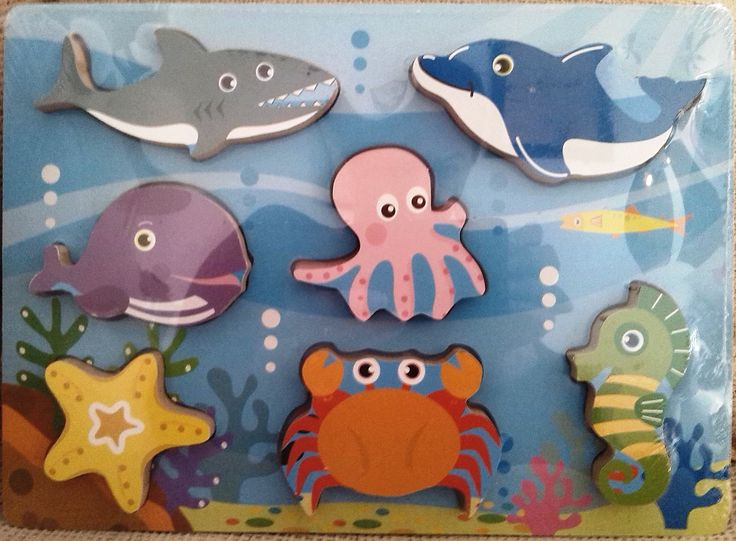 ENCAJE ANIMALES MARINOS (12 €) http://www.babycaprichos.com/puzle-de-madera-o-encaje-con-motivos-de-animales-marinos.html