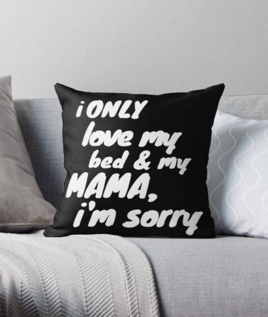 Excited to share the latest addition to my #etsy shop: I Only Love My Bed and My Mama Square Throw Pillow - Drake God's Plan Lyrics - Black and White - Home Decor http://etsy.me/2GMz5l4 #housewares #pillow #black #adult #white #easter #birthday #no #throwpillows